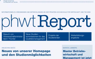 Neuer PHWT-Report online!