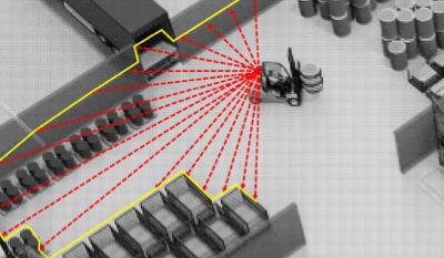 3D-Lasertechnologie erleichtert Staplerlogistik
